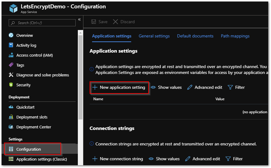 Secure an Azure Web App Using Let's Encrypt – DavidFleming org